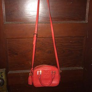 Tory Burch red mini crossbody bag